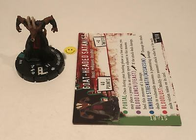 Horrorclix Nightmares Goat-Headed Satanist #018 with Card NEW from Booster Pack