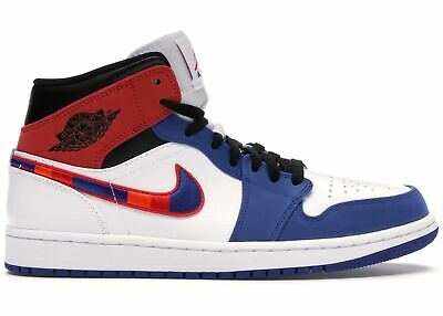 Jordan 1 Mid SE White/Rush Blue/Black/University Red (852542 146)
