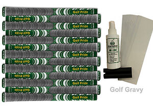 13 Golf Pride New Decade MultiCompound Platinum Green Standard Grips + FREE Kit