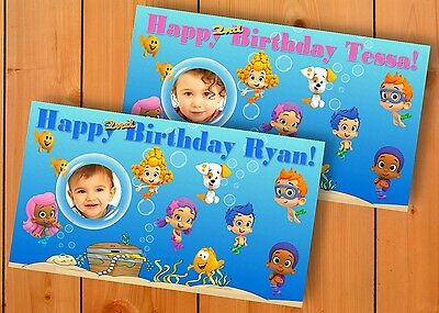 Bubble Guppies Birthday Banner Personalized Custom Design Indoor Outdoor Party](Bubble Guppies Birthday Banner)