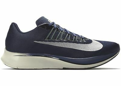 69cc626fcd9e NIKE ZOOM FLY 880848 405 SIZE 11.5 OBSIDIAN WHITE BLUE RUNNING MSRP  150