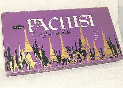 VINTAGE Pachisi A Game of India 1962 Whitman Board Game & Pieces Boxed RARE, used for sale  Dickinson