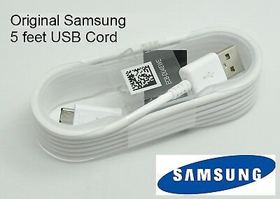 Original OEM 5 ft Samsung Galaxy Tab 3 Tab 4 7.0 8.0 10.1 USB Charger SYNC CABLE