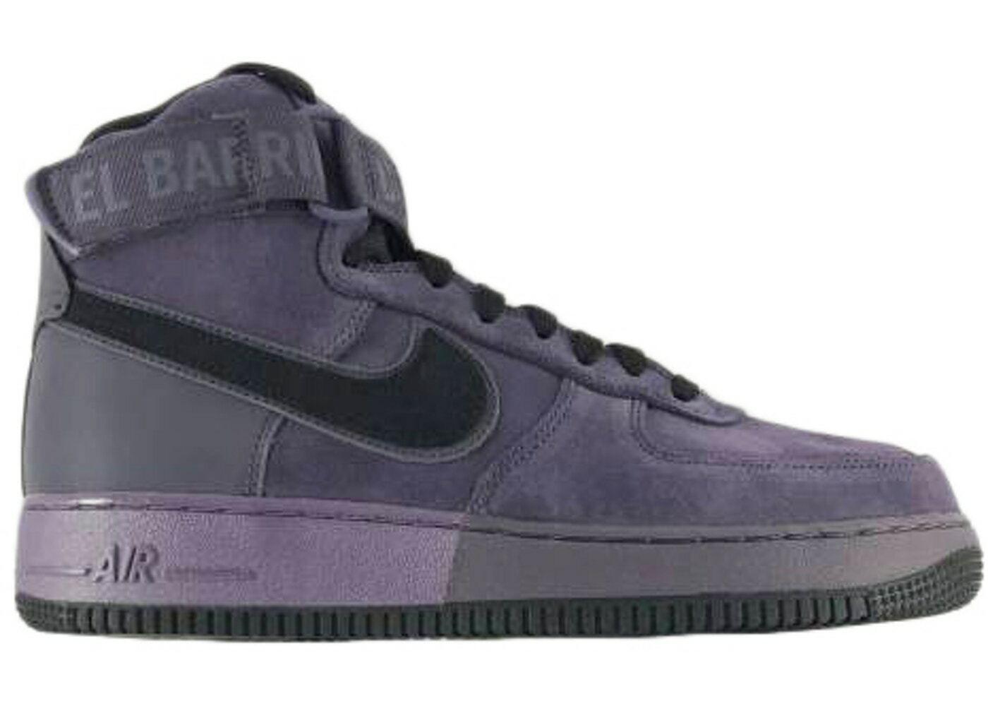 Nike Air Force 1 High '07 QS Men's Shoes 573967 500 Harlem Uptown Purple Black