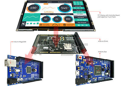 9 Inch Tft Lcd Capacitive Touch Ssd1963 Shield For Arduino Duemega 2560 Library