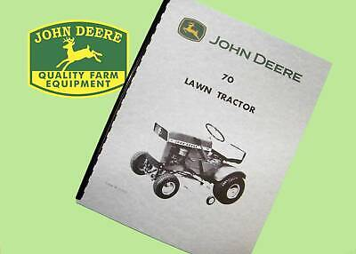 John Deere 70 Lawn Tractor Operation And Maintenance Manual
