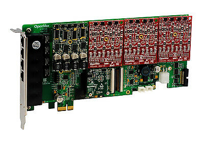 Openvox Ae1610e13 16 Port Analog Pci-e Card Base Board + 1 Fxs + 3 Fxo + Ec2032 0