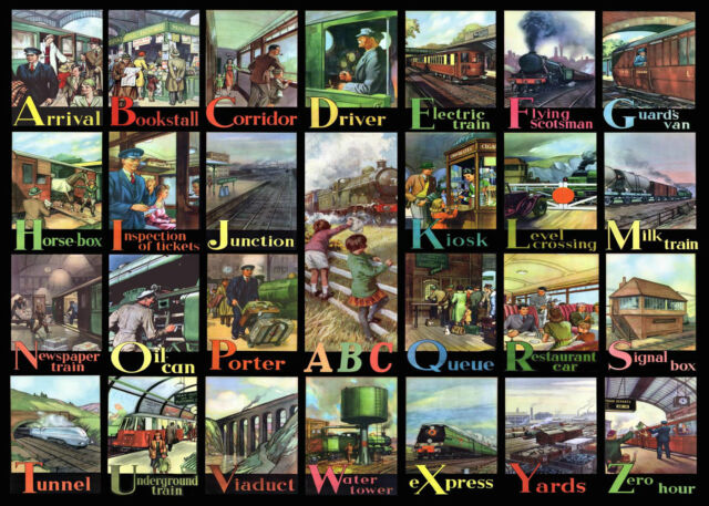 The House Of Puzzles - 500 BIG PIECE JIGSAW PUZZLE - A - Z Of Rail Big Pieces