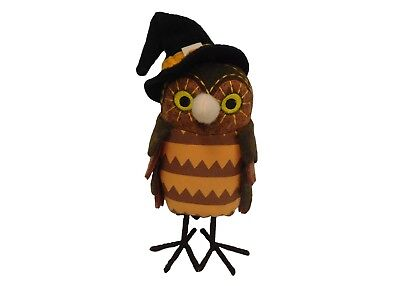 Target Halloween Fabric Standing Brown Owl Decor~Hyde and Eek! Boutique~10
