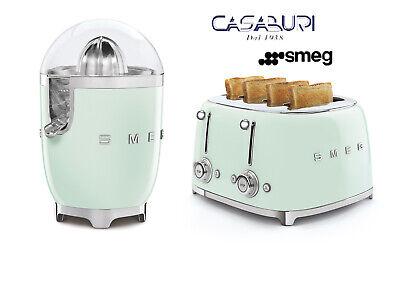 Smeg Pastel Green 2 Pcs Set Juicer+Toaster 4x4 Slice