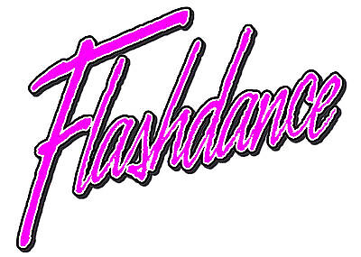 ✿✿✿ FLASHDANCE DARK IRON ON TRANSFER DANCE 80'S NEW COLOURS AVAILABLE!! ✿✿✿