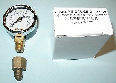Oil Burner Fuel Pressure Test Gauge For Beckett Suntec Webster Danfoss Pumps