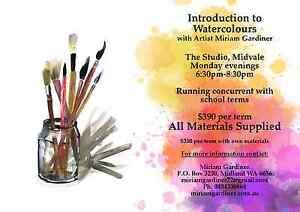 Art Classes in  Beginner Watercolour. Starts Feb 6th Midvale Mundaring Area Preview