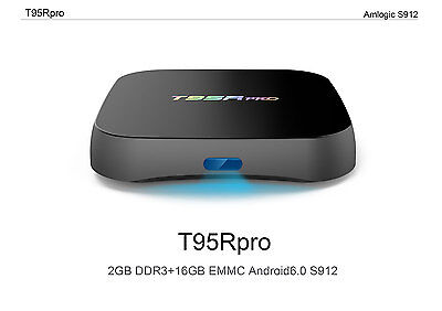 T95R Pro S912 16G Octa Core Android 6.0 Smart TV Box Fully Loaded Dual Wifi