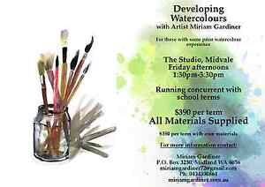 Art Classes in Developing Watercolour. Term Starts Feb.10th 2017! Midvale Mundaring Area Preview