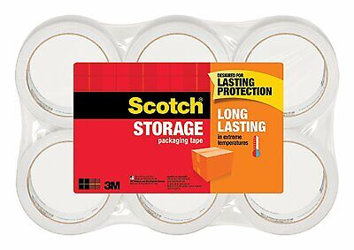 3m Scotch Moving Storage Packing Packaging Tape 6 Rolls Pack 1.88 X 54.6 Yd