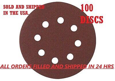 5-Inch 8-Hole Hook and Loop Sanding Discs 40/80/120/180/240