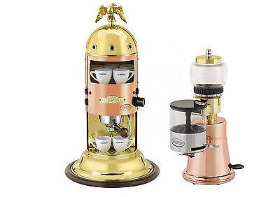 Elektra Mini Verticale A1 Machine Grinder Ms Espresso Set Copper Brass 220v