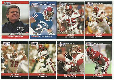 1990 Pro Set Atlanta Falcons 23 Card Team Set Series 1 2 And Final Update - $5.99