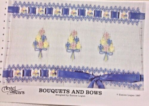ANGEL WEARS SMOCKING PLATE-BOUQUETS & BOWS
