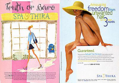 1997 print Advertisement SOFTLIGHT HAIR REMOVAL Spa Thira pretty nude 021415