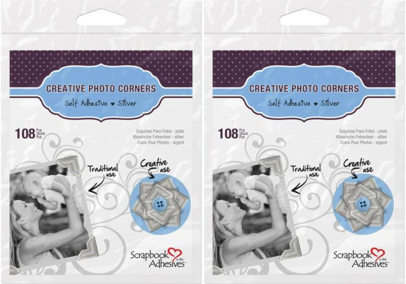 "Scrapbook Adhesives *216 Silver Photo Corners* 1/2""  426399"