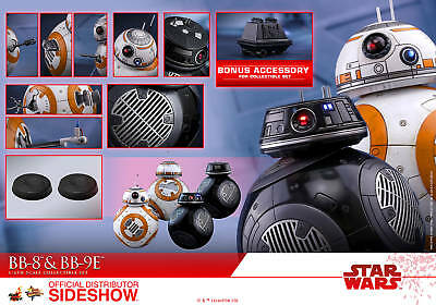 - Star Wars Ep.VIII BB-8 & BB-9E & Mouse Droid Action Figure MMS Hot Toys Sideshow