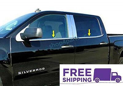 Fits Chevy Silverado/GMC Sierra CrewCab Stainless Steel Chrome Window Sill Trim
