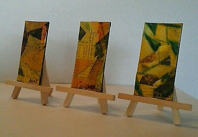 Three California Original Abstract Mixed Media  Paintings by K.A.Davis