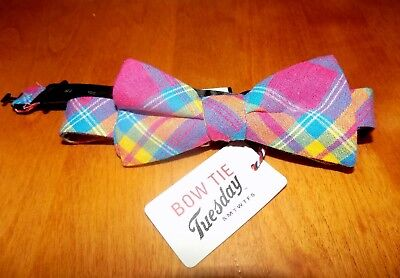 BOW TIE TUESDAY NEON PLAID Plaids Men's Ties Mens BOWTIE NEW WITH TAGS - Neon Bow Ties