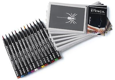 Semi-Permanent Tattoo Pen Kit. 13 Shades Of Up To 24 Hour Strong Colour For (Sunglasses 13 Hours)