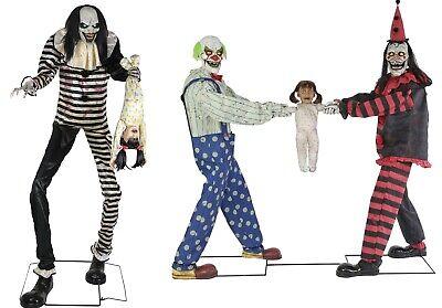 Animated TOWERING SWEET DREAMS & TUG OF WAR CLOWNS Props  (Halloween Wars Clowns)