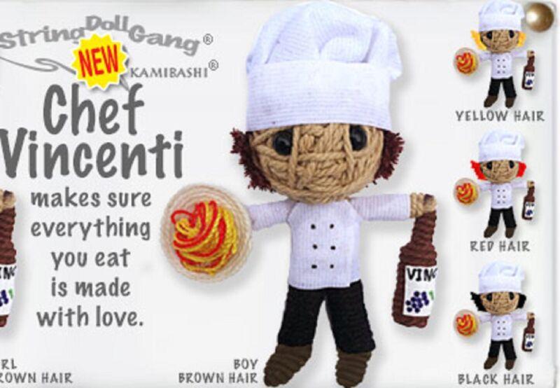 Kamibashi Chef Vincenti Boy Original String Doll Gang Keychain Toy
