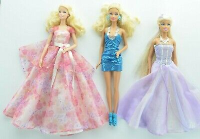 Barbie Dolls Mixed Lot of 3 Beautiful clothed Dolls