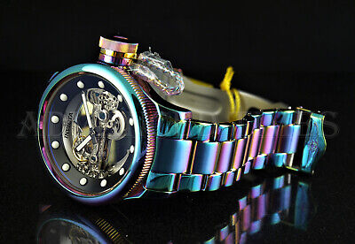 Invicta 52mm Russian Diver Automatic Ghost Bridge IRIDESCENT SS Bracelet Watch