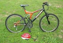 Bicycle - Cyclops 18 Speed Mountain Bike with Lights & Helmet Park Orchards Manningham Area Preview