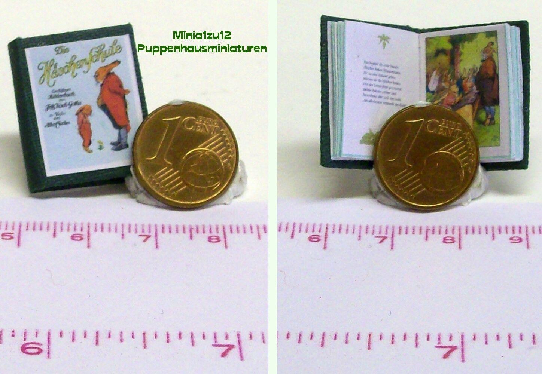 1013# Miniaturbuch Hasenschule - Kinderbuch - Puppenhaus - Puppenstube - M 1:12