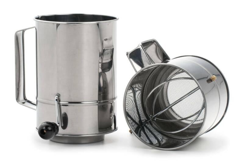 RSVP Endurance Hand Crank Flour Sifter - 3 Cup