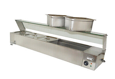 5-pans Large Capacity Bain Marie Counter Top Food Warmer 110v1500w