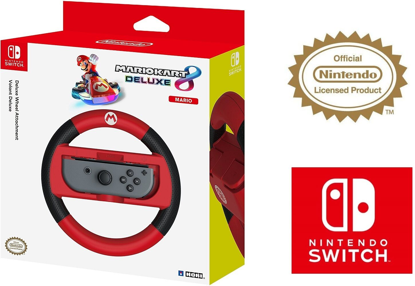Hori Official Nintendo Switch Mario Kart 8 Deluxe Wheel - Mario Version