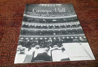 Dimitri mitropoulos New York Philharmonic Carnegie Hall Program 1958