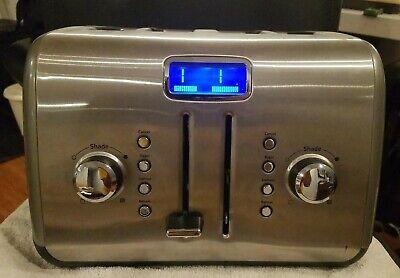 KitchenAid Digital Display KMT422QG 4-Slice Toaster StainleSteel Liquid Graphite