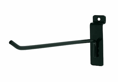 100 Black 8 Slatwall Peg Metal Hooks Slat Wall Display 6mm Diameter Tubing