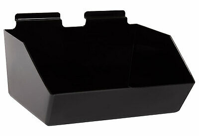 12 X 5 X 9 Inch Black Plastic Dump Bin - For Slatwall - Set Of 2