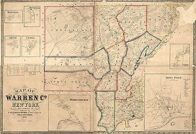 1858 Map of Warren County New York