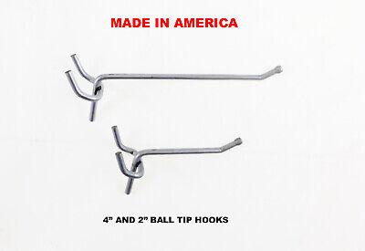 50 PACK 6 Inch Locking White Plastic Peg Hooks Fit 1//8-1//4 Pegboard 4 Key incl