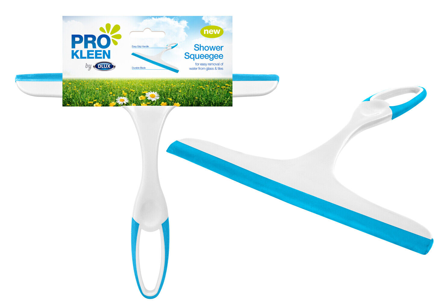 Pro Kleen Shower Cleaner Window Squeegee Wiper Glass Clean Rubber Blade Screen Washer Tile
