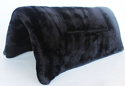 Black double faced fleece Western saddle pad w/felt center 30