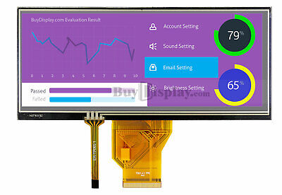 6.5 Inch Touch Screen Bar Type Tft Lcd Display 800x320 For Iot Wtouch Panel