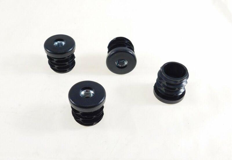 "4 Pack Threaded 1""(OD) Round Plastic Tubing Insert 1/4-20 Threads  S28-324BK"
